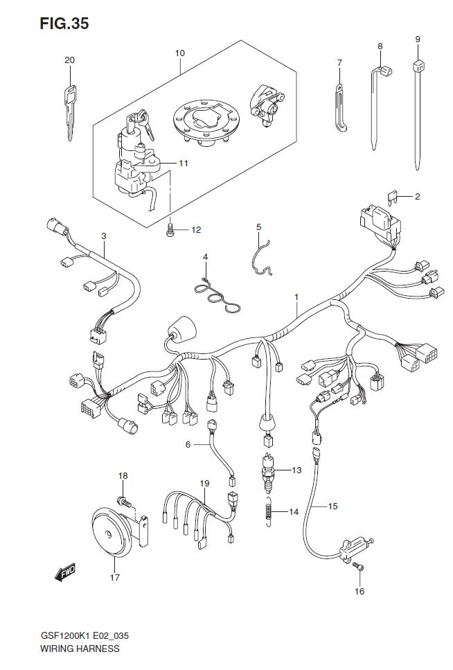 WIRING HARNESS SK1/SK2