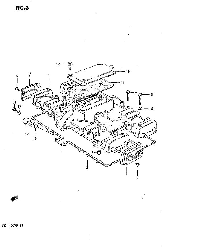 Cylinder Head Cover (Model D)
