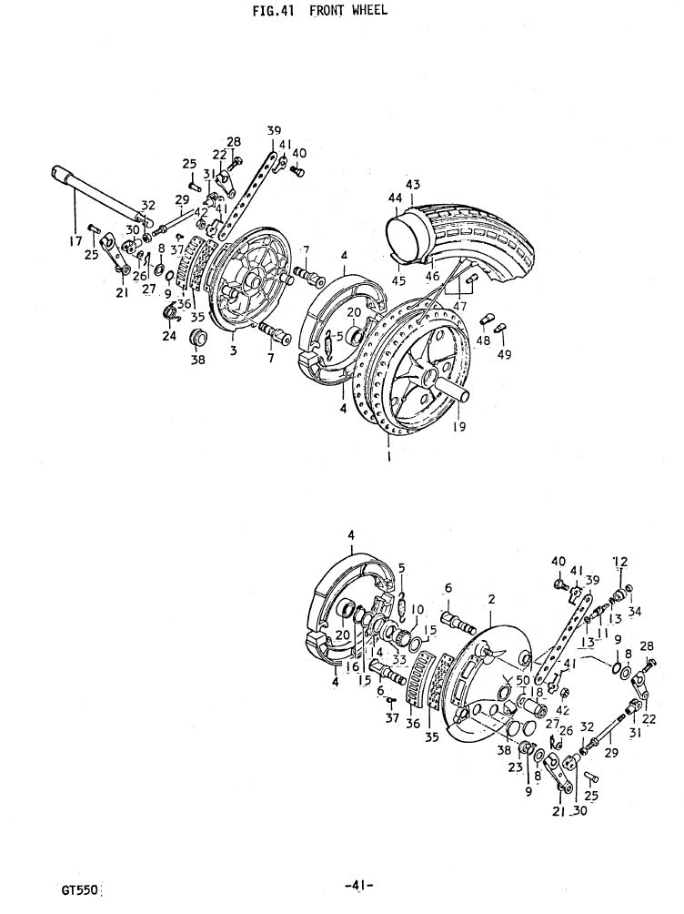 Fig 41 - Front Wheel