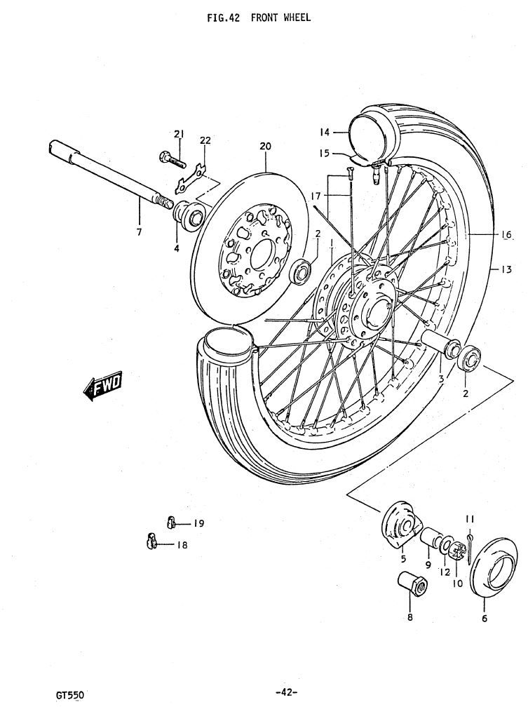 Fig 42 - Front Wheel
