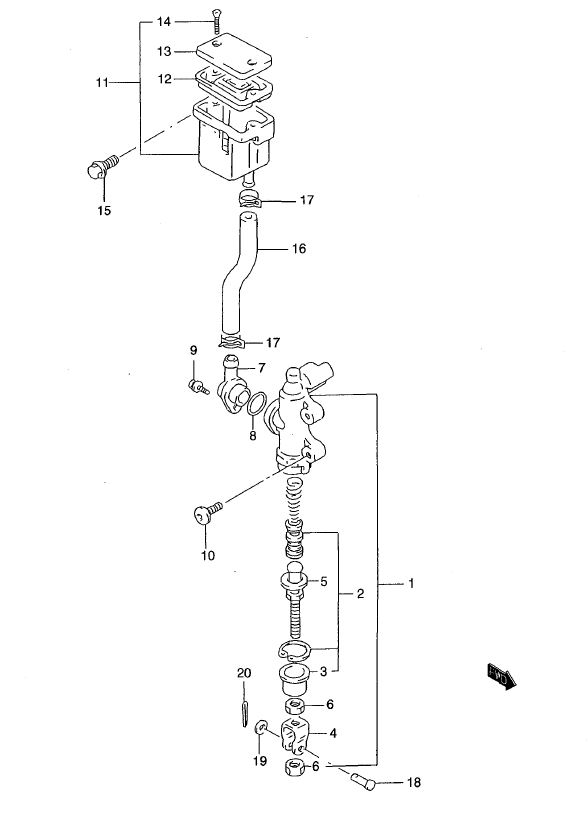 Rear Master Cylinder - ABS