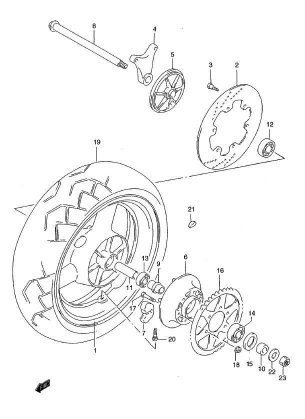 Rear Wheel - ABS