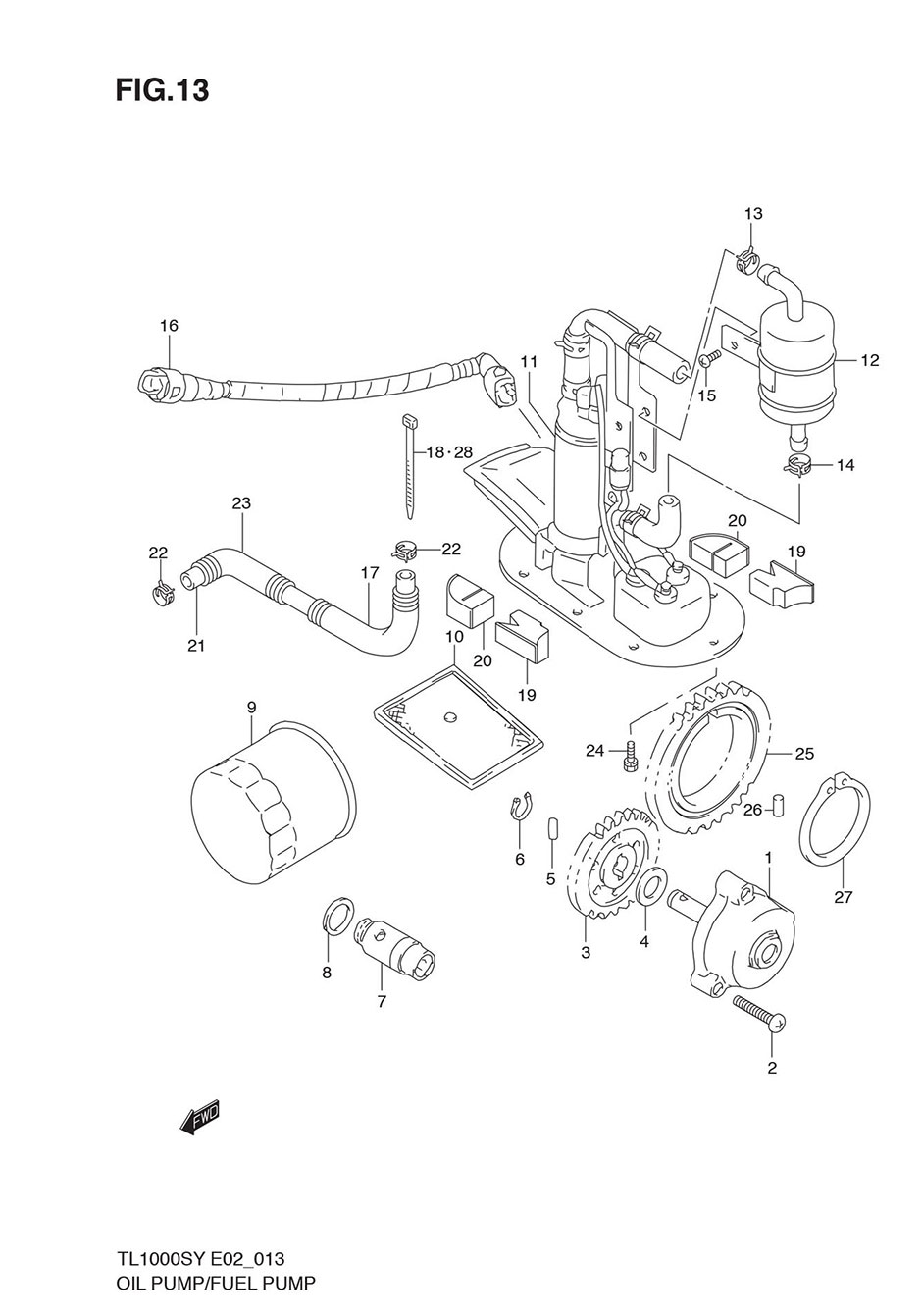 OIL PUMP/FUEL PUMP