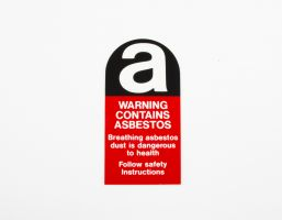 LABEL, ASBESTOS WARNING