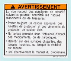 Label, Warning (French)