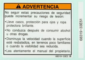 Label, Warning (Spanish)
