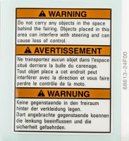 LABEL, WARNING STEERING