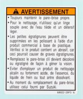 Label, Warning [French]
