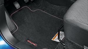 Carpet mat set, RHD, M/T & A/T. with red stiching / logo