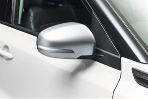 Door Mirror Cover RH - Brushed Aluminium Look (with Turn Signal)