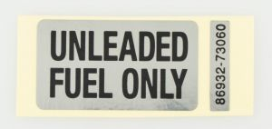 LABEL, FUEL CAUTION