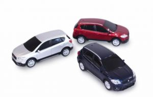 SX4 S-Cross Pull-Back Miniature Car - Silver