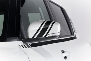 Door Mirror Decal - Black