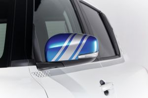 Door Mirror Decal - Silver