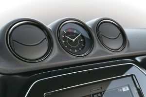 Dashboard Coloured Trim Ring Set Piano Black