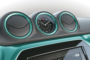 Dashboard Coloured Trim Ring Set Turquoise