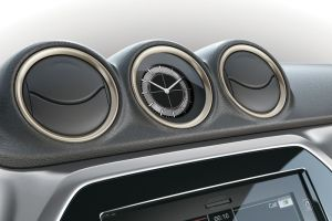 Dashboard Coloured Trim Ring Set Ivory