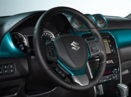 Steering Wheel Coloured Trim Atlantis Turquoise