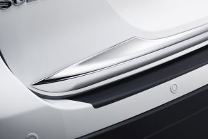 Chromed hatch trim