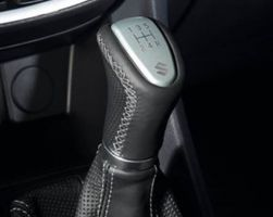 Leather Gear Shift Knob - Black And Silver (5 speed)