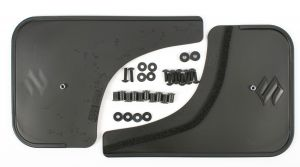 Mud flap set, flexible, rear