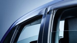 Door visor set - rear