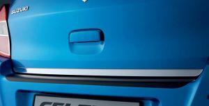 Chromed rear hatch trim