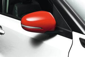 Door Mirror Cover Set Bright Red (without Turn Signal)