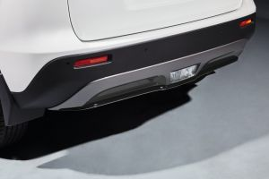 Rear Bumper Centre Accent Line Matte Black
