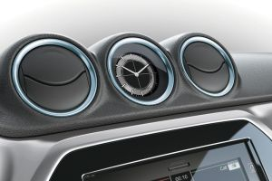 Dashboard Coloured Trim Ring Set Ice Greyish Blue