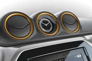 Dashboard Coloured Trim Ring Set Solar Yellow