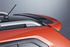 Rear Upper Spoiler - Flame Orange Pearl Metallic