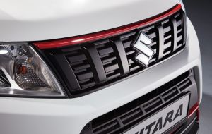 Upper Grille Styling Line Bright Red