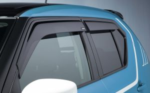 Rain and wind deflector set