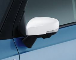Door Mirror Covers (with Turn Signal) - White