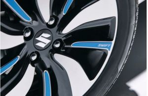 Alloy Wheel Decal Set- Speedy Blue