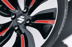Alloy Wheel Decal Set - Burning Red